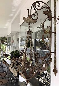 French Style Rustic Vintage Metal Chandelier Richmond Hawkesbury Area Preview