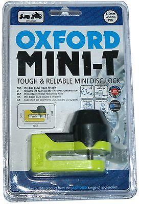 Oxford Mini-T Disc Lock OF49 Mini T Yellow