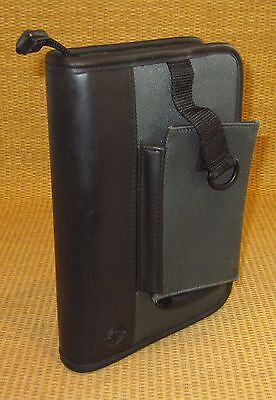 Compact 1 Rings Black Gray Durable Sport Franklin Covey Zip Plannerbinder