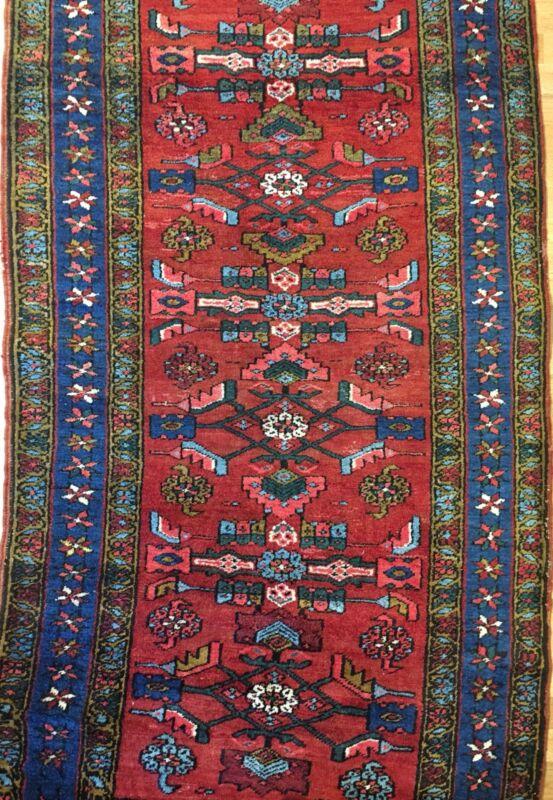 Handsome Heriz - 1930s Antique Persian Rug - Tribal Runner - 3.8 X 7.6