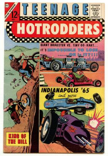 High Grade! Teenage Hotrodders 13 King of the Hill 1965 12c Comic Charlton