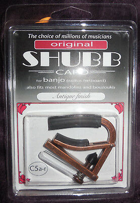 Shubb Banjo Capo - Shubb C5A-R radiused Banjo Capo with Antique finish new in package free Shipping