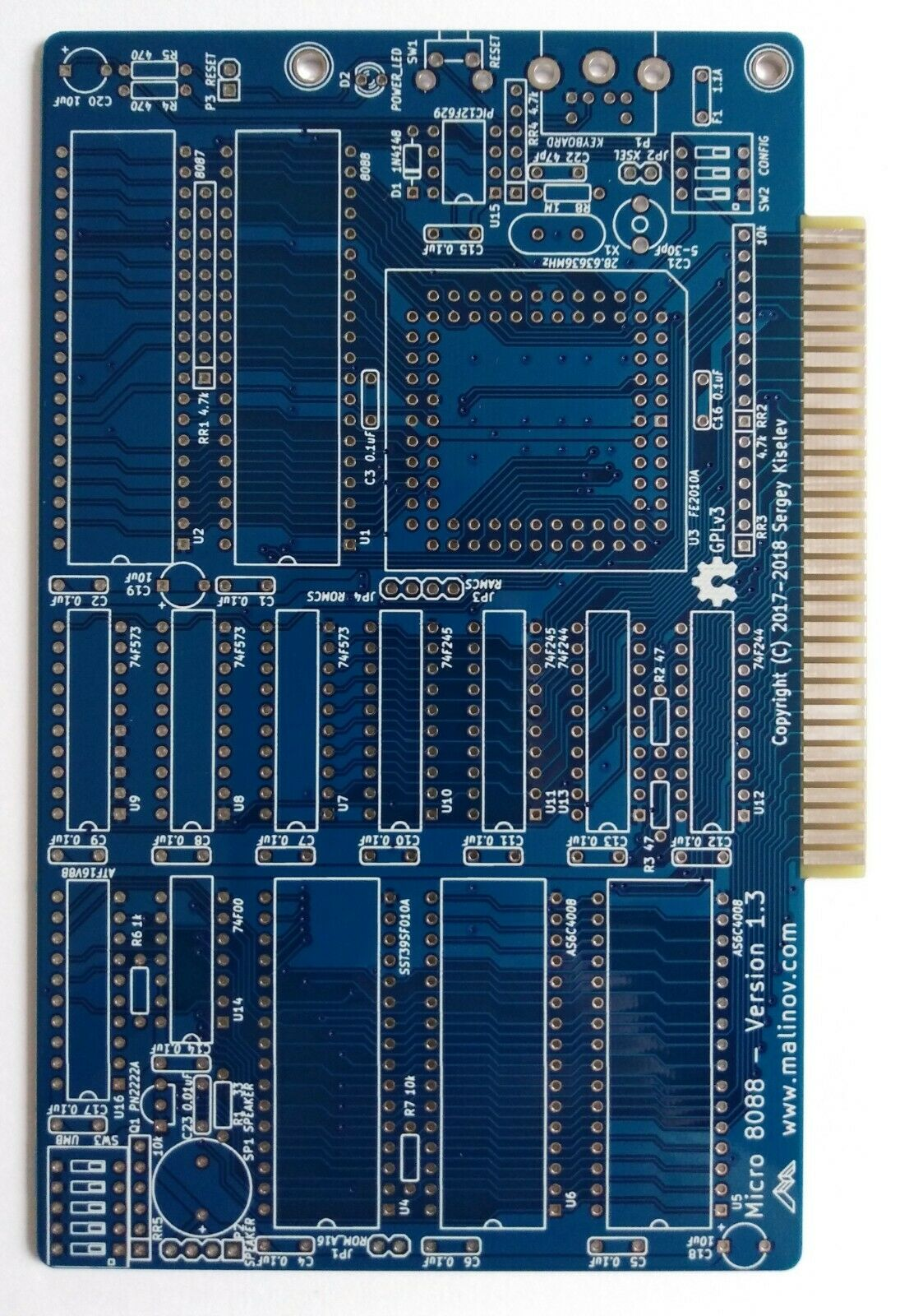  Micro PC XT 8088 SBC PCB