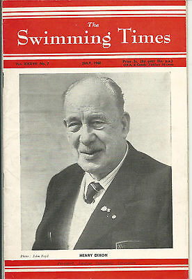 The Swimming Times magazine-1960 - July. Henry Dixon ASA President.