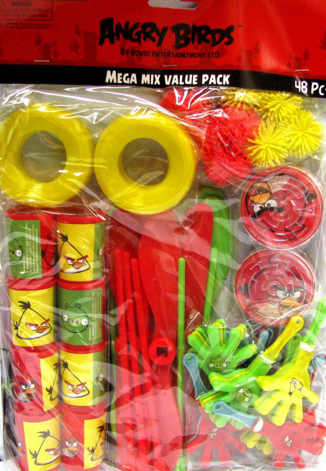 Angry Birds 48 Piece Favor Pack Birthday Party Supplies Favors 4 Loot Bags
