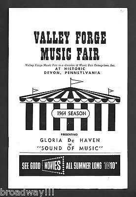"Gloria De Haven ""SOUND OF MUSIC"" Rodgers & Hammerstein 1964 Playbill"