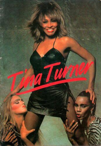 TINA TURNER 1984 PRIVATE DANCER EUROPEAN TOUR CONCERT PROGRAM BOOK / VG 2 EX
