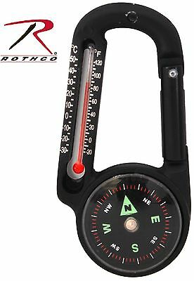 - Rothco Carabiner Compass & Thermometer Outdoor Survival Tool 6500