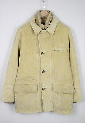 FAY Men's X LARGE Hidden Hood Yellow Corduroy Jacket 37855-GS