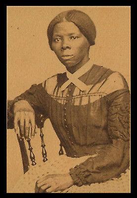 Harriet Tubman Underground Railroad Photo Reprint On 100 Year Old Paper