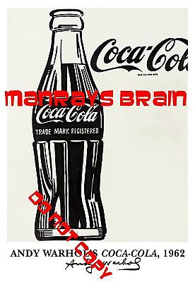 "ANDY WARHOL COKE COCA COLA  13 x 19"" Photo  POP ART ADVERTISING"