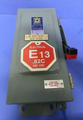Square D Safety Switch 30amp 600vac 600 V.dc