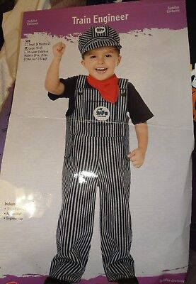 Boys, Train Engineer - Conductor Toddler Children's Costume - Size Large 3T - - Boy Train Conductor Costume