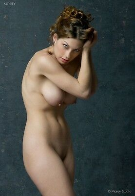 Kymberly 5203, Fine Art Nude Model, color photo signed by Craig Morey