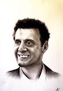 John Turturro - ritratto portrait grafite e carboncino cm. 33 x 48 - Italia - John Turturro - ritratto portrait grafite e carboncino cm. 33 x 48 - Italia