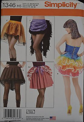 Simplicity 1346 -Misses' Skirts and Bustles - Halloween Costumes Pattern (Halloween Costume Sewing Patterns)