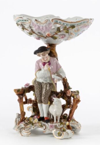 A Continental Porcelain Figural Compote Early 20th Century