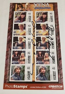XENA PHOTO STAMPS - ONLY 200 EXIST - SIGNED LUCY LAWLESS & RENEE O'CONNER - MINT