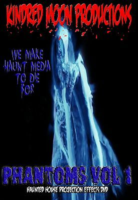 Phantoms Vol 1 Projection Effects DVD Haunted  House Halloween  - Halloween Projection 1