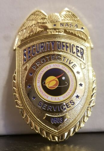 NASA PROTOTYPE Security Officer Metal Badge.    For Collecting Only