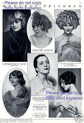 Moderne Frisuren 6 Fotoabb. 1925 Filmschauspielerinnen France Ander Minzenti -