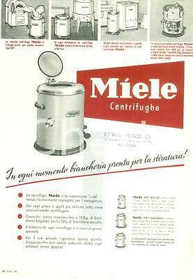 1955 ca GUTERSLOH GERMANIA Volantino MIELE Centrifughe per stiratura *Pubblicità