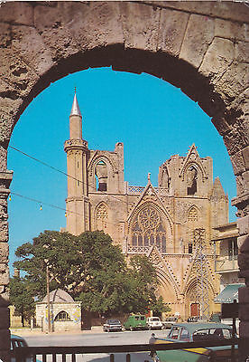 CYPRUS POSTCARD FAMAGUSTA AYIOS NIKOLAOS CATHEDRAL BY IOANNIDES