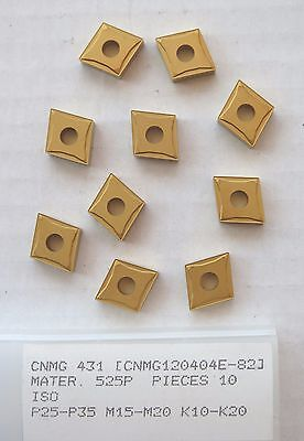 10 New Cnmg 431 Carbide Inserts Gold Turning Lathe Made By Pramet A Seco Company