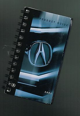 2001 Acura DEALER / SALESMAN only POCKET PRODUCT GUIDE Brochure:NSX,MDX,RL,TL,CL