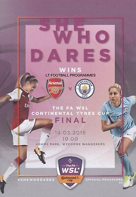 * 2018 WOMENS CONTINENTAL CUP FINAL - ARSENAL v MAN CITY - 14th March 2018 *