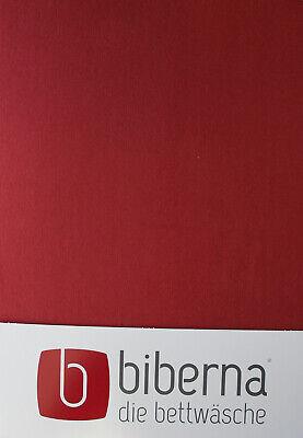 Biberna Biber - Spannbetttuch 180x200 cm - 200x200 cm Weinrot extra warm
