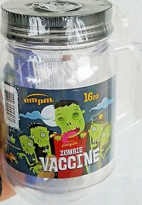 AMPM Zombie Vaccine Mason Jar Plastic Mug 16oz Cup Double Insulated Tumbler ()