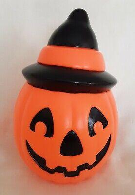 1995 Empire Halloween Blow Mold Light-Up Jack-O-Lantern W/Hat Decoration