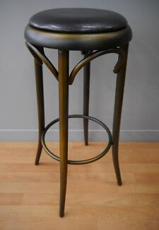 New Copper Replica Thonet Bentwood Round Bar Stools Cafe