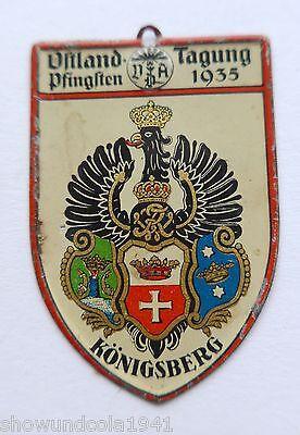 Abzeichen --Ostland-Tagung VDA 1935 Königsberg-- RAR