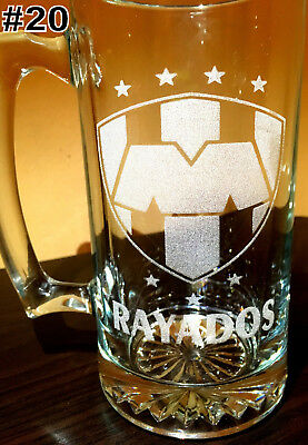 Laser Engraved Beer - RAYADOS MONTERREY tarro sport Beer Mug 26.5 oz Personalized Laser Engraved FREE