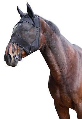 Fliegenmaske Fliegenhaube Augenschutz Nüsternkordel Ohrenschutz für Pferde