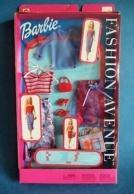 Bambola Barbie dress outfit Fashion Avenue 2002 NRFB new in box originale...