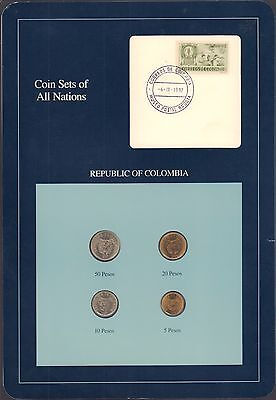 Bjstamps  Coin Sets Of All Nations Republic Of Colombia Bu 1990 1991