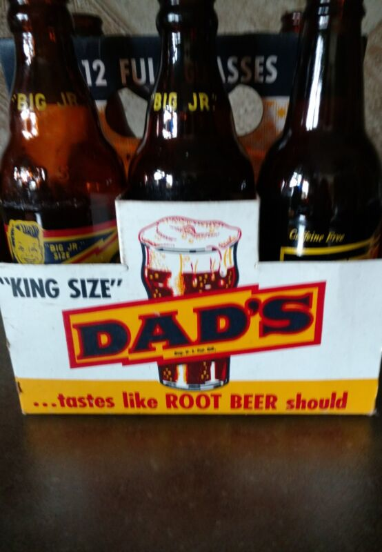 Vintage DADS Root Beer Collection with Original Carton 1951