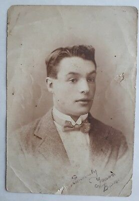 1920s Bow Ties   Gatsby Tie,  Art Deco Tie 1920s B/W Photograph. Handsome Young Man in Bow Tie. Kendoa Rd Studio London SW4 $6.84 AT vintagedancer.com
