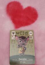 Deirdre 240 Villager Nintendo Amiibo Card Animal Crossing ...