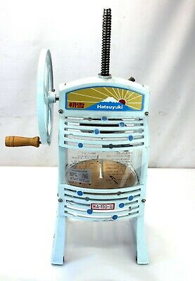 Hatsuyuki Manual Hawaiian Shaved Ice Machine Block Ice Shaver Pro Ha-110s