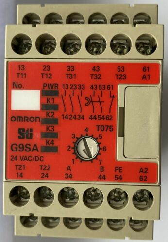 Omron G9SA Safety Relay Dual Channel - 3 Safety Contacts and 1 Aux G9SA-321-T075