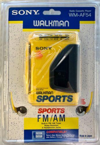 Sony WM-AF54 Sports Walkman Cassette Player FM/AM Vintage 1989 New
