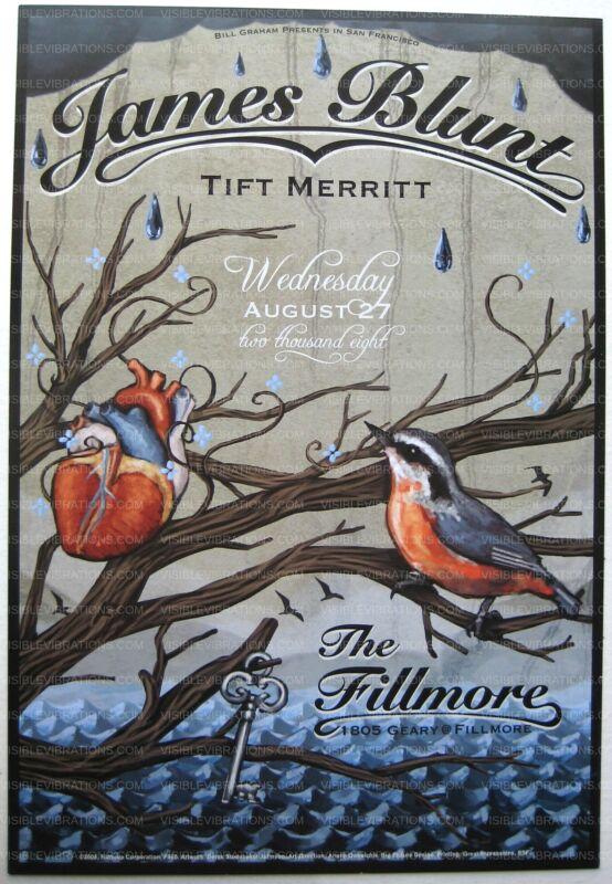 James Blunt Concert Poster Fillmore #942 2008