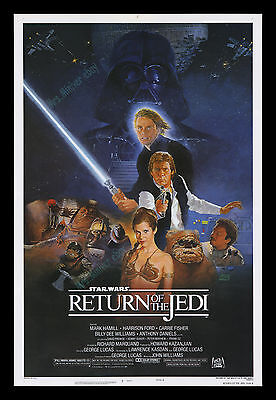 WHITE TITLE VARIANT☆ Star Wars The Return of the Jedi ☆ MINT ROLLED MOVIE POSTER
