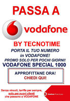 Coupon Passa A Vodafone Special 1000 Per Tutti Gli Operatori - vodafone - ebay.it