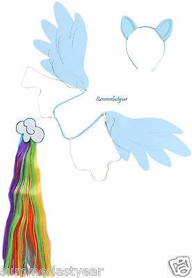RAINBOW DASH -MY LITTLE PONY -DRESS UP -COSPLAY, COSTUME, ANYTIME KIT-FREE - Rainbow Dash Cosplay Kostüm