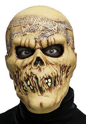 Mummy Mask Costume (Fun World Adult Skull Skeleton Mummy Plastic Character Costume)